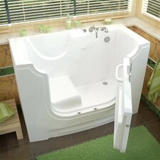 "HandiTub 60"" x 30"" Soaking Wheelchair Accessible Walk-In Bathtub"