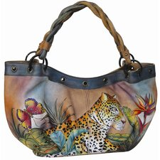 Ruches Leopard Paradise Tote Bag