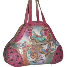 Extra Large Henna Butterfly Shopper Tote Bag