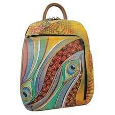 Sling-Over Dancing Peacock Travel Backpack