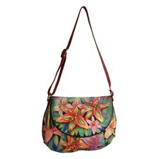 Flap Over Convertible Hobo Bag