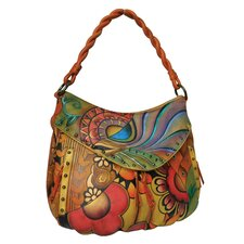 Patchwork Garden Ruched Multi-Pocket Hobo Bag