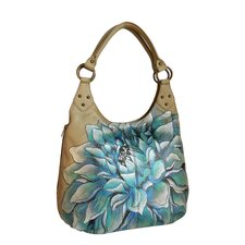 Dreamy Dahlias Large Hobo Bag