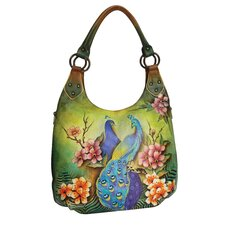 Passionate Peacocks Hobo Bag