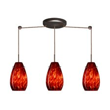 <strong>Besa Lighting</strong> Pera 3 Light Pendant