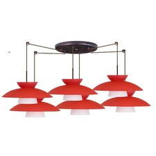 <strong>Besa Lighting</strong> Mesa 6 Light Pendant