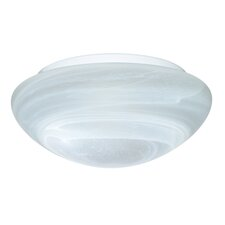 <strong>Besa Lighting</strong> 2 Light Marble Glass Flush Mount