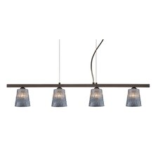 <strong>Besa Lighting</strong> Nico 4 Light Linear Pendant
