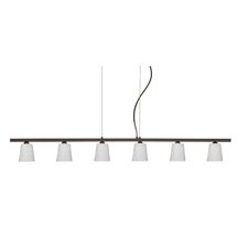 <strong>Besa Lighting</strong> Nico 6 Light Linear Pendant
