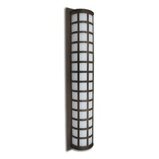 "Scala 28"" High Brushed Aluminum Wall Light"