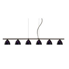 <strong>Besa Lighting</strong> Sabrina 6 Light Linear Pendant