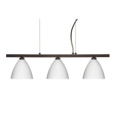 Mia 3 Light Cable Hung Linear Pendant