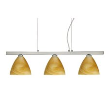 <strong>Besa Lighting</strong> Mia 3 Light Cable Hung Linear Pendant