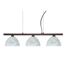 Brella 3 Light Linear Pendant