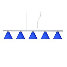 <strong>Besa Lighting</strong> Kani 5 Light Cable Hung Linear Pendant