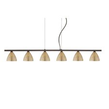 Mia 6 Light Cable Hung Linear Pendant