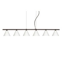 <strong>Besa Lighting</strong> Kani 6 Light Cable Hung Linear Pendant