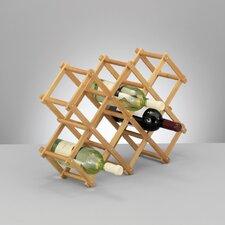KlappbarerWeinregal aus Bambus