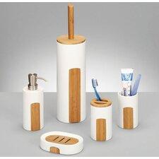 Seifenschale Keramik mit Bambuseinlage