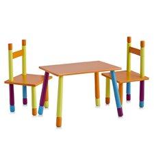"""3-tlg. Kinder-Sitzgarnitur """"Color"""" aus MDF"""