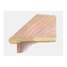 Solid Flush Stair Nose Hardwood Trim