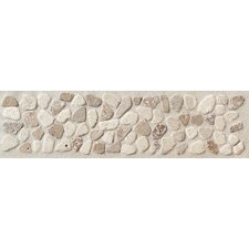 "Artistic Accent Statements 12"" x 3"" Pebble Decorative Border in Baja Cream/Walnut"