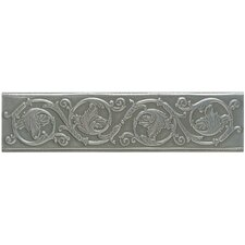 "Artistic Accent Statements Metal 12"" x 3"" Scrolling Leaf Decorative Border in Vintage Pewter"