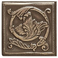 "Artistic Accent Statements Metal 3"" x 3"" Scrolling Leaf Decorative Corner/Insert in Vintage Bronze"