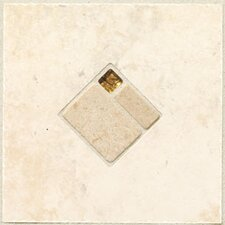 "Natural Bucaro 6-1/2"" x 6-1/2"" Decorative Wall Insert in Bianco"