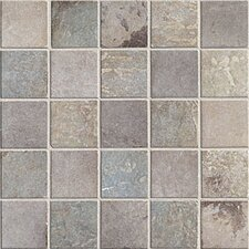"Slate 2"" x 2"" Quarry Stone Decorative Mosaic Blend in Dark"