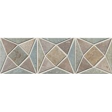 "Slate Quarry Stone 12"" x 4"" Dark Decorative Border"
