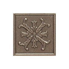"Artistic Accent Statements Metal 2"" x 2"" Fiore Decorative Corner/Insert in Vintage Bronze"