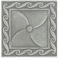 "Artistic Accent Statements Metal 3"" x 3"" Scrollwork Decorative Corner/Insert in Vintage Pewter"