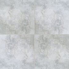 Natural Casa Loma Porcelain Glazed Floor Tile in Grey Wool