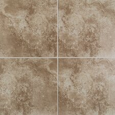 "Casa Loma 13"" x 13"" Floor Tile in Brown Velvet"