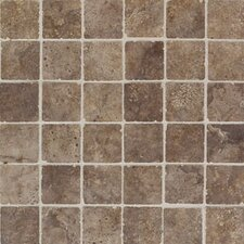 "Natural Monticino 13"" x 13"" Mosaic Tile in Noce"