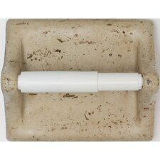 Classic Wall Mounted Travertine Resin Toilet Paper Holder with Plastic Roller