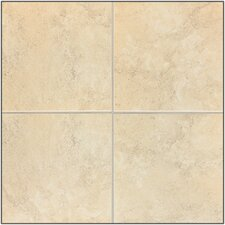 "Caridosa 18"" x 18"" Floor Tile in Beige"