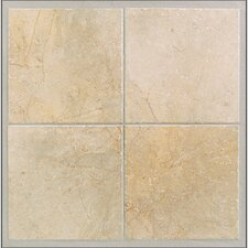 Rustic Egyptian Porcelain Glazed Wall Tile in Ramses White