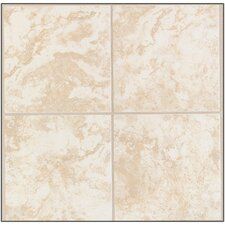 Natural Pavin Stone Ceramic Floor Tile in White Linen