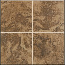 "<strong>Mohawk Flooring</strong> Pavin Stone 18"" x 18"" Floor Tile in Brown Suede"