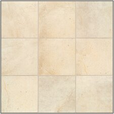 Natural Sardara Porcelain Glazed Floor Tile in Fortress Cream