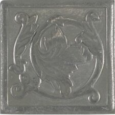 "Artistic Accent Statements Metal 2"" x 2"" Scrolling Leaf Decorative Corner/Insert in Vintage Pewter"