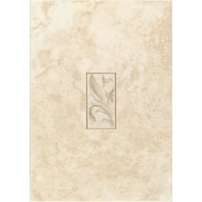 "Natural Pavin Stone 14"" x 10"" Decorative Accent Wall Tile in White Linen"