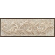 "<strong>Mohawk Flooring</strong> Natural Primabella 12"" x 4"" Cascading Leaves Decorative Listello in Cappuccino"