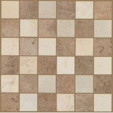 "Natural Sardara 12"" x 12"" Mosaic Tile in Fortress Cream/Island Brown Blend"