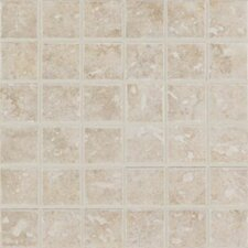 "Steppington 2"" x 2"" Mosaic Floor Tile in Provincial Pearl"