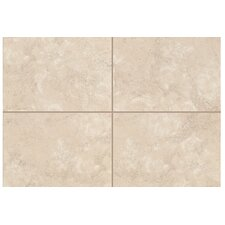 "Natural Caridosa 8"" x 2"" Bullnose Tile Trim in Beige"