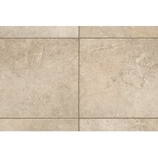 "Rustic Egyptian Stone 10"" x 3"" Bullnose Tile Trim in Ramses White"