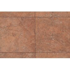 "<strong>Mohawk Flooring</strong> Rustic Egyptian Stone 6.5"" x 6.5"" Bullnose Corner Tile Trim in Luxor Red"
